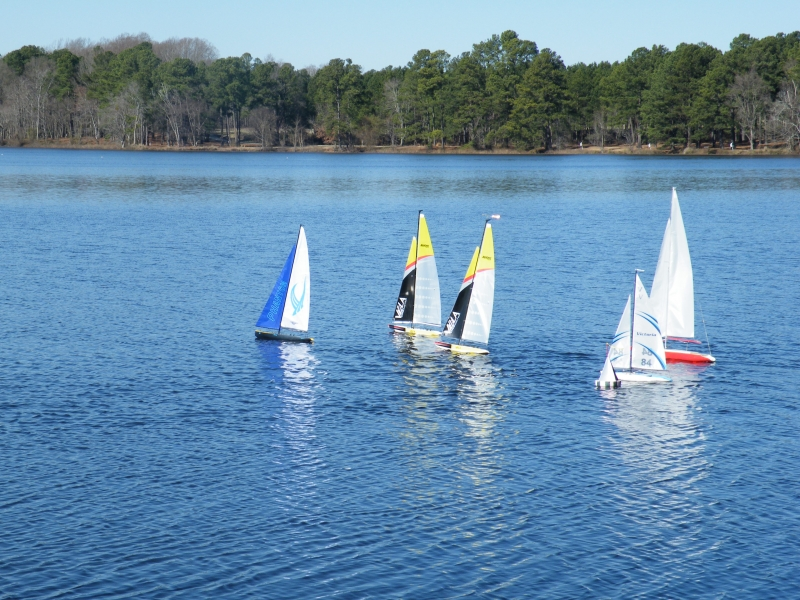 Sailing R/C boats @ Lake Wilson